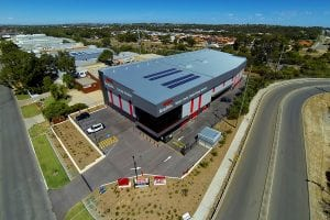 ariel view of balcatta self storage facility