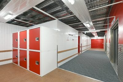small self storage lockers inside facility