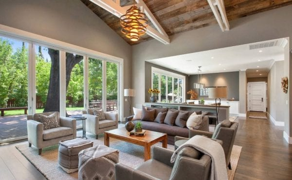 an open space living area